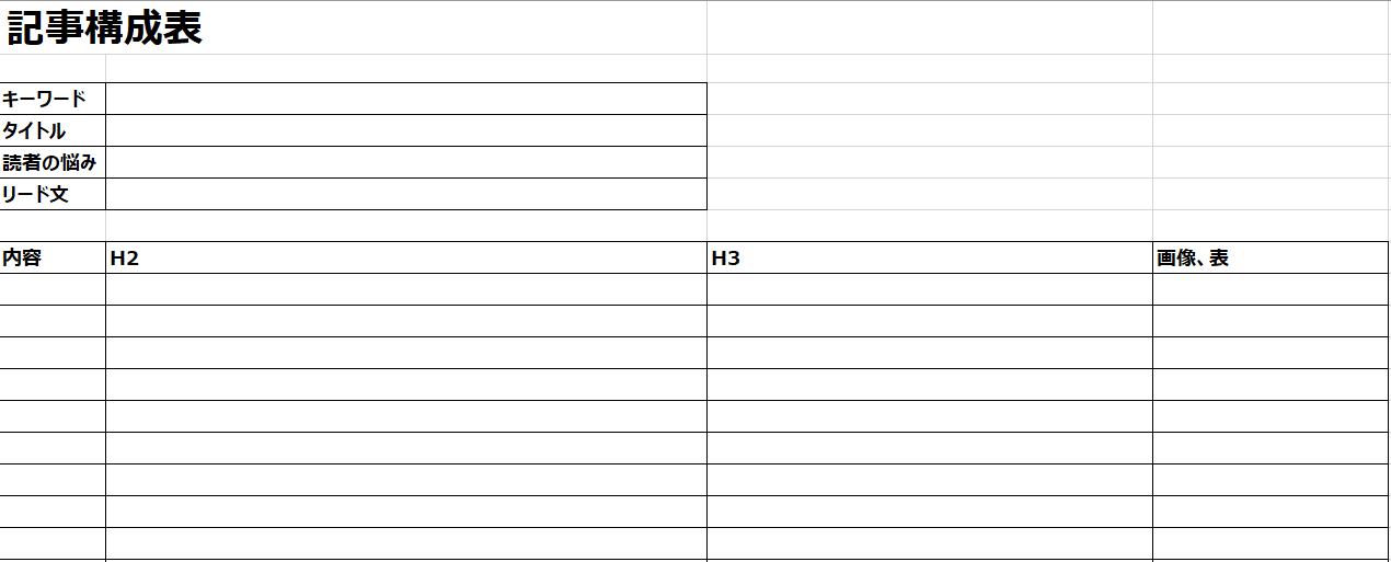 記事構成表